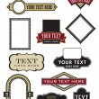 A wide selection of vector elements for logos, lab...