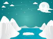Artic iceberg landscape