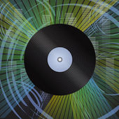 Vinyl record with grunge effect background