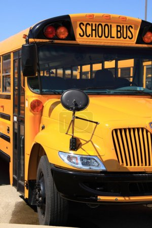 Photo for School bus on the parking lot - Royalty Free Image