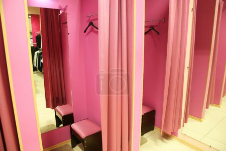 Photo for Fitting room in a modern boutique - Royalty Free Image