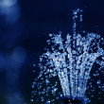 Water drops on dark blue background...
