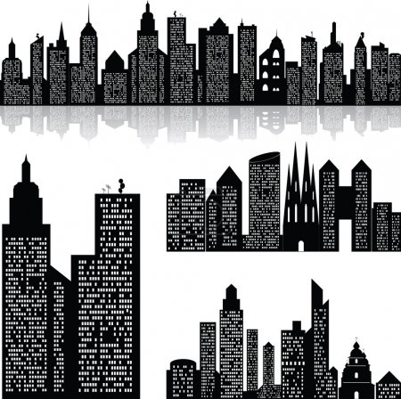 City skyline vector background