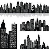 City skyline vektor háttér