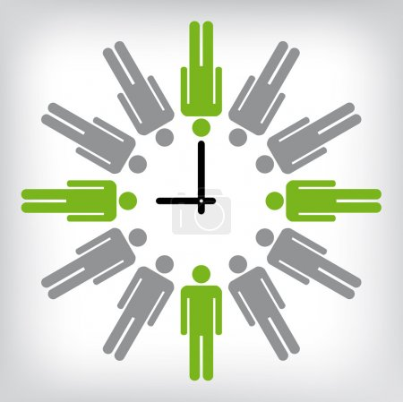 Human clock conceptual illustration...