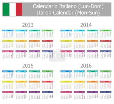 2013-2016 Type-1 Italian Calendar Mon-Sun