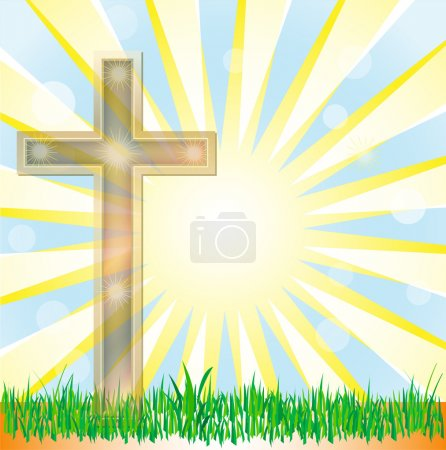 Abstract summer background vector with cross for different uses