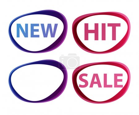 Vector stickers — sale, new, hit