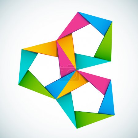 Illustration for Vector illustration colorful shapes composition - Royalty Free Image