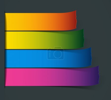 Colorful Vector Sample stripes for various options