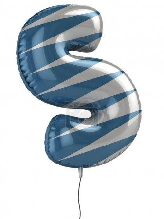 Letter S balloon 3d illustration