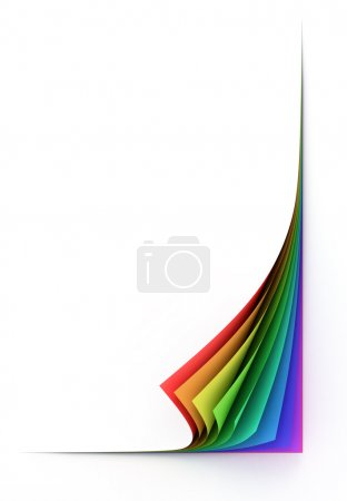 Photo for 3d isolated illustration of blank colorful paper sheets - Royalty Free Image