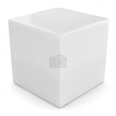Photo for White 3d cube isolated over white illustration - Royalty Free Image