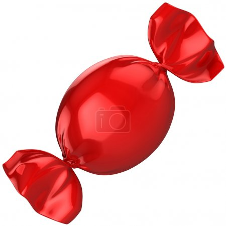 Photo for 3d isolated illustration of red candy - Royalty Free Image