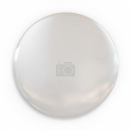 Photo pour Badge blanc 3d illustration isolé - image libre de droit