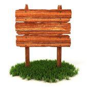 Staré dřevěné billboard