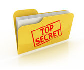 Top secret mappa ikon felett a fehér háttér
