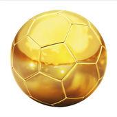 Zlatý fotbal (fotbalový míč) na bílém pozadí