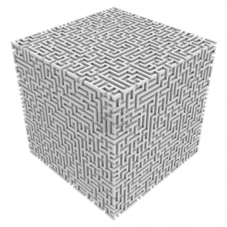 Photo for Maze cube 3d illustration - Royalty Free Image