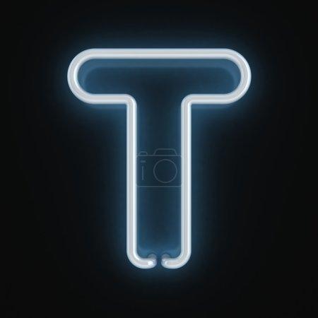 Neon font letter t