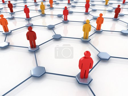 Photo for Social network abstract 3d illustration - Royalty Free Image