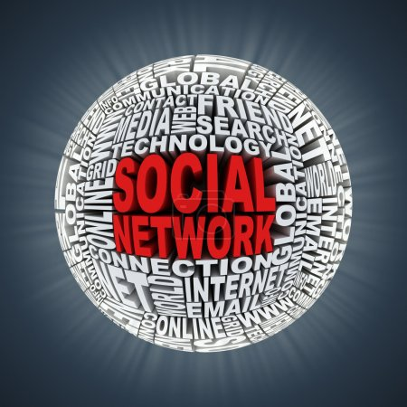 Social network abstract sphere