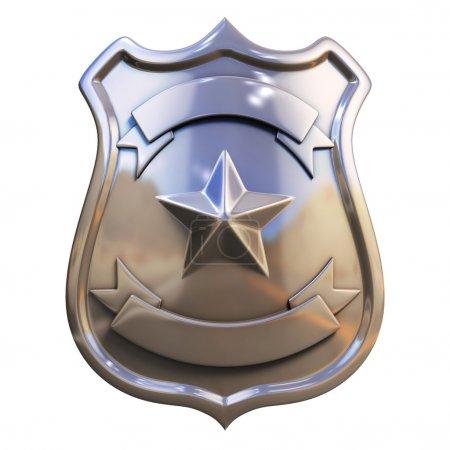Photo pour 3d illustration insigne blanc - image libre de droit