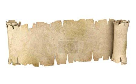 Foto de Ilustración 3d de pergamino banner - Imagen libre de derechos
