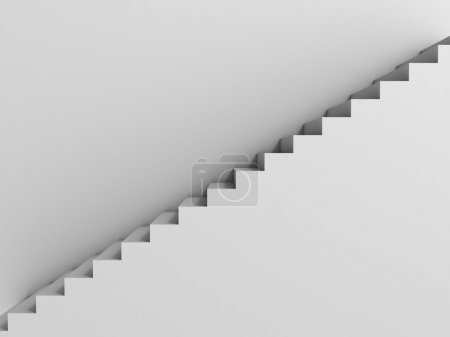 Photo for Stairway as background 3d illustration - Royalty Free Image
