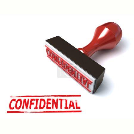 Photo pour 3D illustration confidentiels de timbre - image libre de droit