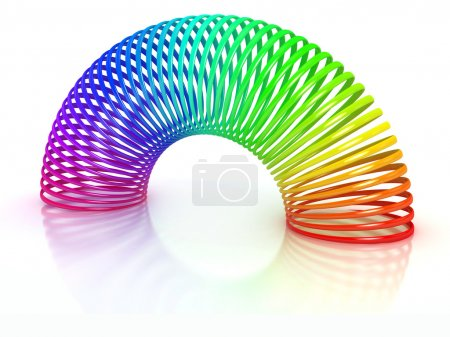 Colorful spring over white background