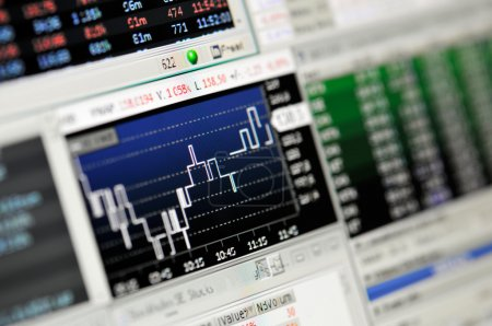 Photo for A Stock Market Financial Trading Screen on a high resolution LCD screen. - Royalty Free Image