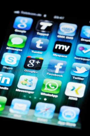 Социальные медиа приложений на Apple