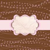 Brown and pink valentine vintage card. EPS 8