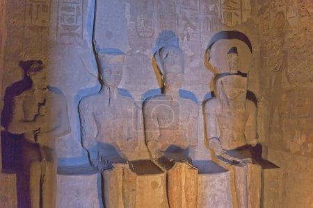 Rare statues inside of Abu Simbel Temple.