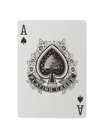 Photo pour Jeux de cartes (ace) isolé sur fond blanc - image libre de droit