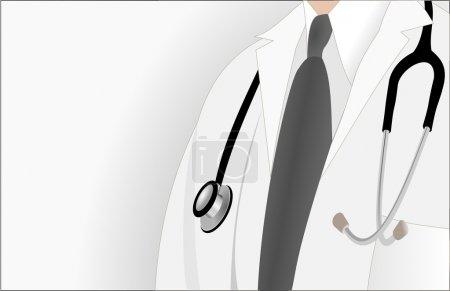 Illustration pour Carte de visite médecin - profession - uniforme - image libre de droit