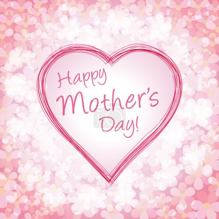 Happy mother's day background, vector illustration