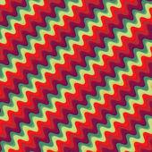 Retro color zigzag pattern