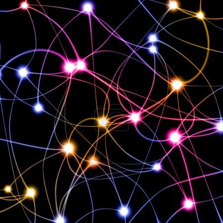 Digital illustration of neuron