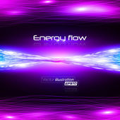 Energy flow 2 Vector illustration