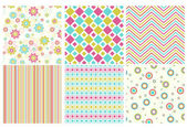 Vector set of different seamless pattern