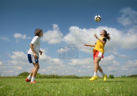 Photo pour La position de la balle - image libre de droit