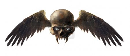 Photo for Illustration skull with the wings - Royalty Free Image