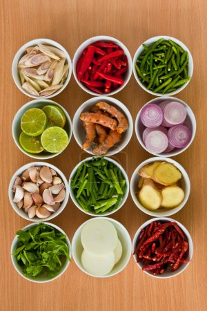 Photo for Herb and spicy ingredients for making Thai food - Royalty Free Image