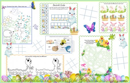 Placemat Easter Printable Activity Sheet 5