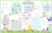 Placemat Easter Printable Activity Sheet 1