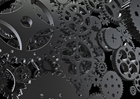 Cogs machinery background