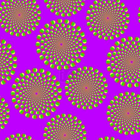Illustration pour Violet fond sans couture avec illusion optique de mouvement - image libre de droit