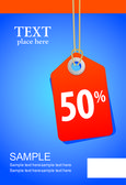 Vector illustration of sale tag